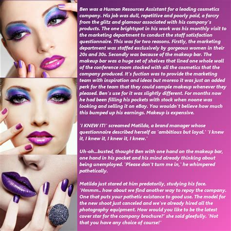 caption forced sissy makeover forced feminization captions permanent makeup