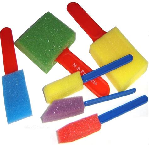 children s sponge paint brushes set of 6 children s art