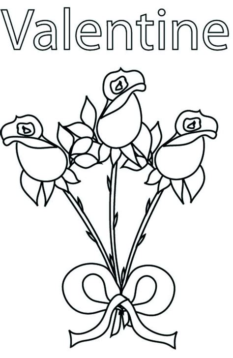 beautiful rose  valentine coloring page