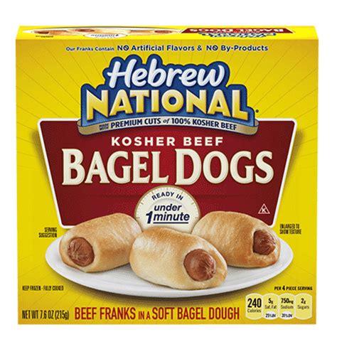 bagel puppy bun length beef franks hebrew national