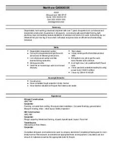 Drywall Installer Sle Resume by Drywall Resume Exles Construction Resumes Livecareer