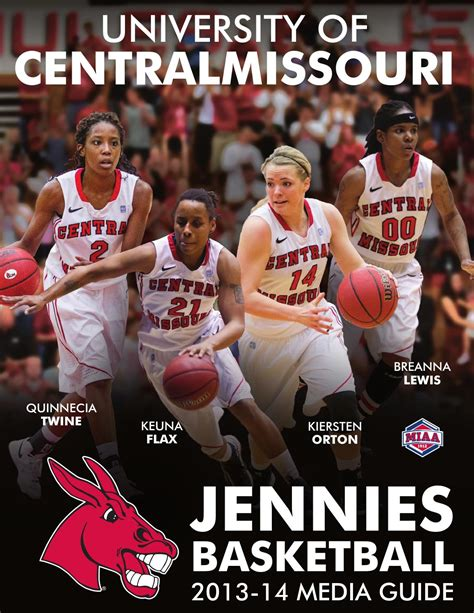 Of Central Missouri Mba Sports by 2013 14 Central Missouri Jennies Basketball Media Guide By