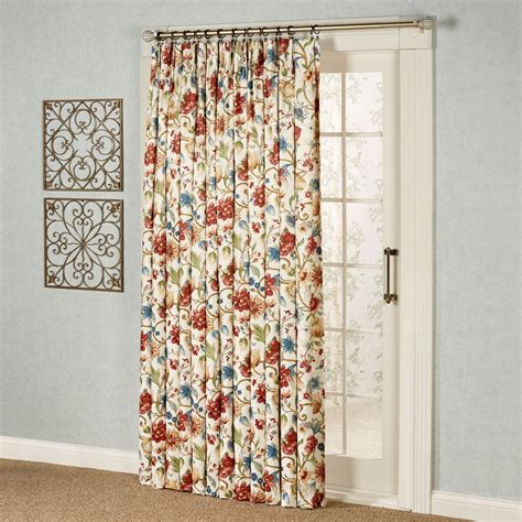 Pinch Pleated Patio Panel by Cornwall Pinch Pleat Thermal Room Darkening Floral Patio Panel
