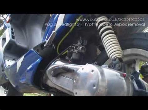 remove throttle cable airbox  cc peugeot speedfight  youtube