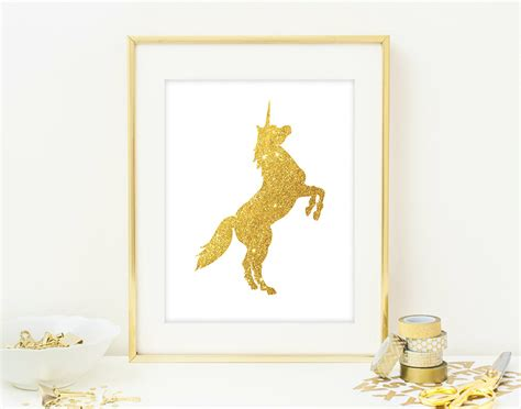 unicorn home decor unicorn wall art print modern chic home decor by quantumprints