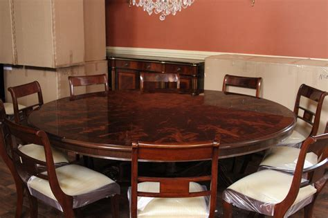 large round dining room table 84 quot high end large round mahogany dining table dining