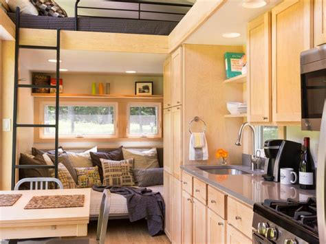 tiny home kitchen design 13 cool tiny houses on wheels hgtv