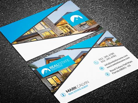 real estate business card template psd real estate business card 40 graphic