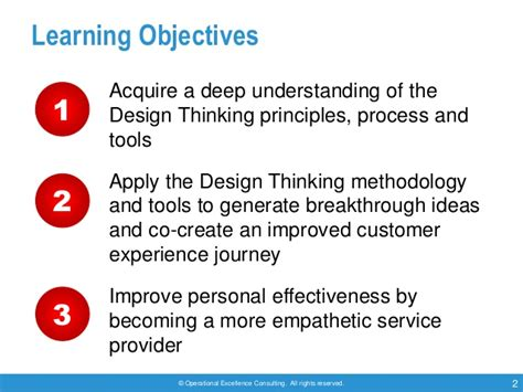 design thinking understand improve apply design thinking by operational excellence consulting