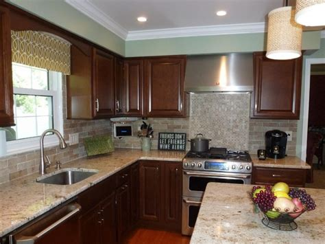 kitchen with brick backsplash faux brick veneer pic with