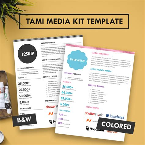 Tami Media Kit Template Hip Media Kit Templates Press Pack Template