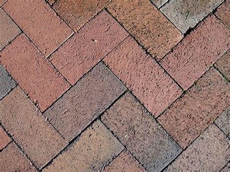 brick pavers herringbone pattern backyard pinterest