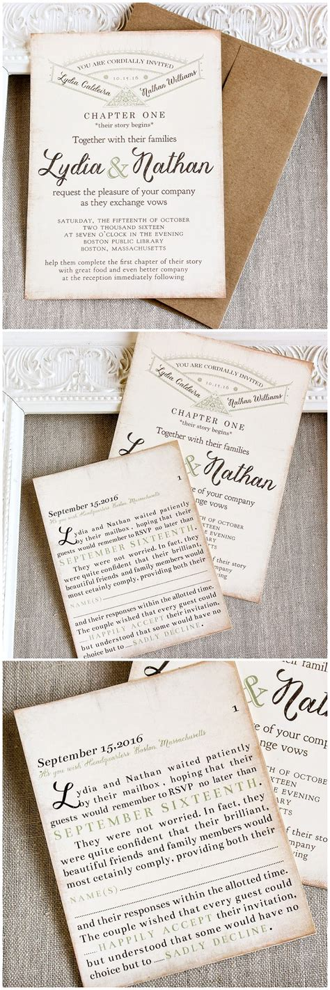 library themed wedding invitations story book library themed wedding invitation and ravioli wedding ideas the