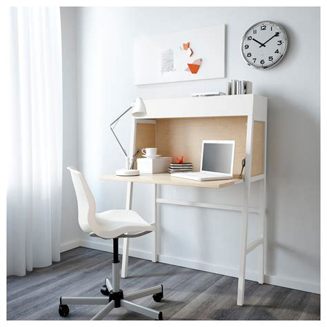 Ikea Ps 2014 Bureau White Birch Veneer 90x127 Cm Ikea White Bureau Desk