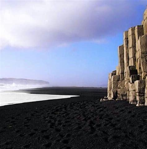 black sand beach iceland black sand iceland iceland pinterest