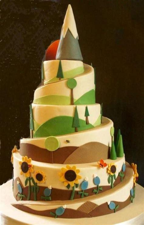 hiking theme cake  cake central wedding cake mountain cake cake wedding cakes