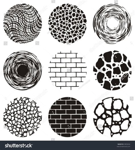 design elements texture definition nine round grunge texture vector design stock vector