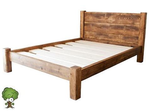 solid wood king size bed frame details about solid wood king size beds frame w wooden