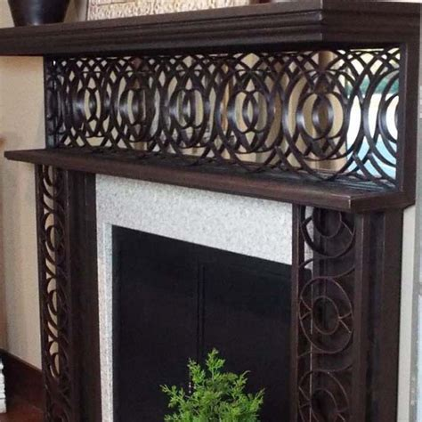 Iron Fireplace Mantel by Bago Luma Concentric Iron Mantel W Mirror Co42 2m