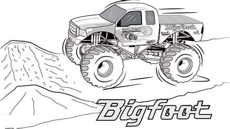monster truck coloring pages getcoloringpagescom