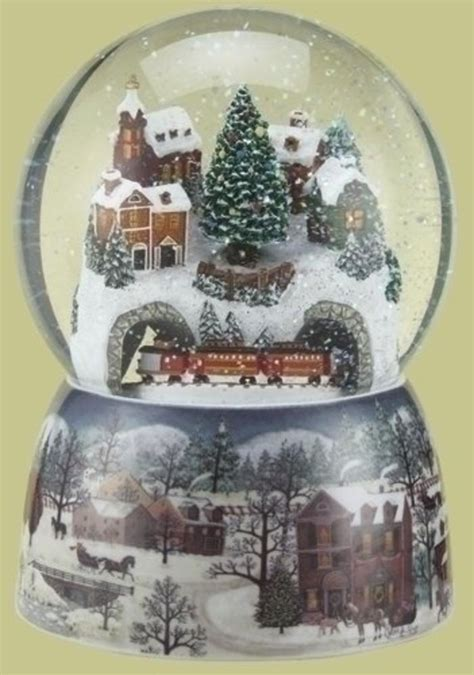 best musical christmas snow globes a listly list