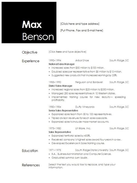 Simple Resume Template Open Office by Open Office Resume Template Fotolip Rich Image And Wallpaper