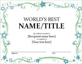 word award template word certificate template 44 free sles