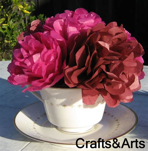 craft paper flowers roses crafts tissue paper flower