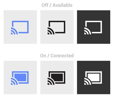 icon design guidelines android google creates vastly improved cast icon design guidelines