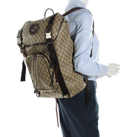 Backpack Guccl Gg Monogram 6317 gucci monogram gg supreme large interlocking g backpack