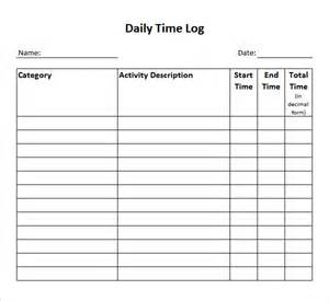 Time Log Sheet Template by Time Log Template 14 Documents In Pdf Word