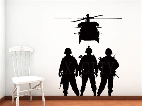 army wall stickers aliexpress buy cool troops chopper army airforce silhouette wall sticker