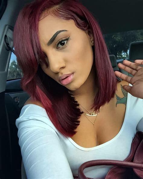 pinterest short dark auburn hairstyles black women unbelievable blue black u pinteres image for girl hair dye