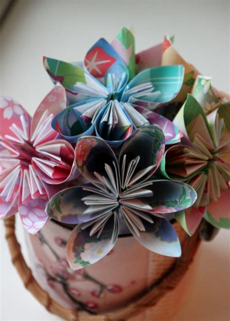 Paper Flowers Folding - easy origami flower tutorial hgtv