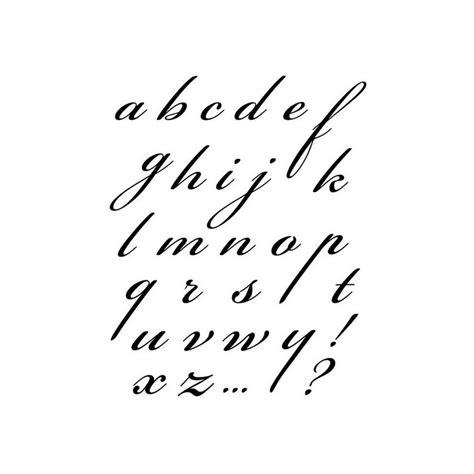 lettere corsivo wtk141 timbro acrilico cm 14x18 alfabeto corsivo minuscolo