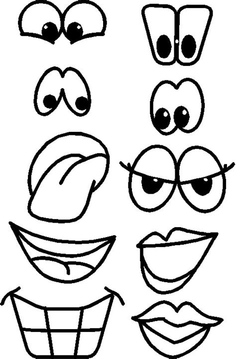Free Printable Eyes Nose Mouth | printable eyes nose mouth templates places to visit