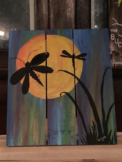 acrylic paint for wood dragonfly painting acrylic on wood my artwork