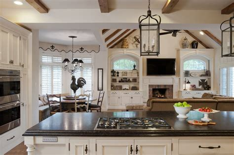 galley open concept kitchen designs family room