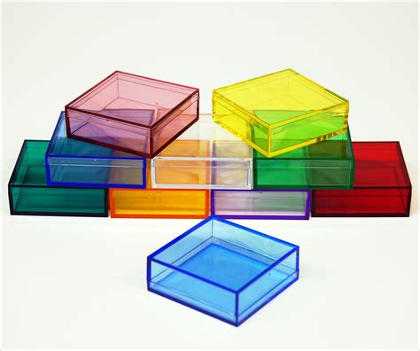 Aqua Kitchen Utensils by Customise 2 X 2 X 3 4 Inch Small Colored Plastic Boxes