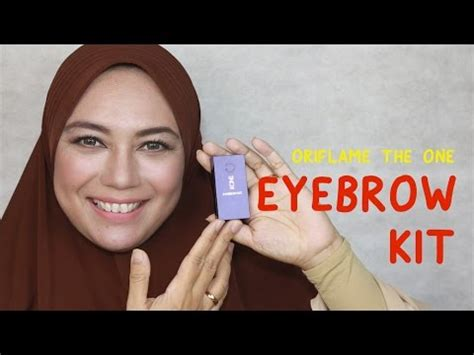 The One Eyebrow Kit review how to eyebrow kit from oriflame the one