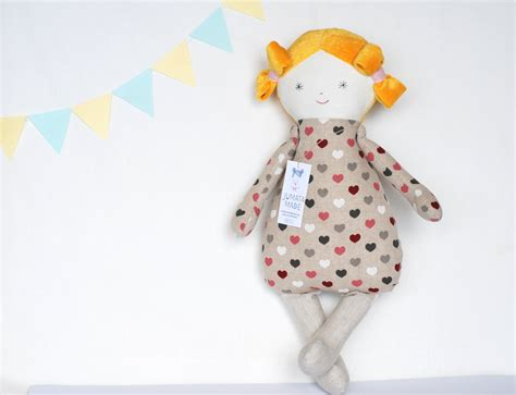 Handmade Dolls For Babies - cloth baby doll ella handmade dolls fabric dolls soft doll