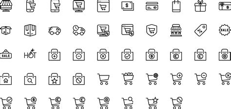 Preview count icons icons vector line and solid icons collection pack for ios android