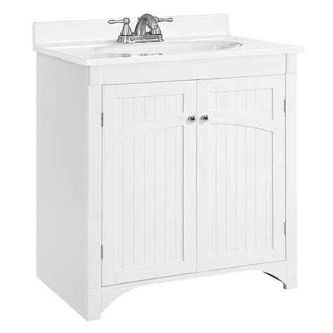 Design House Cottage Vanity | cottage 30 inch white vanity cabinet without top design