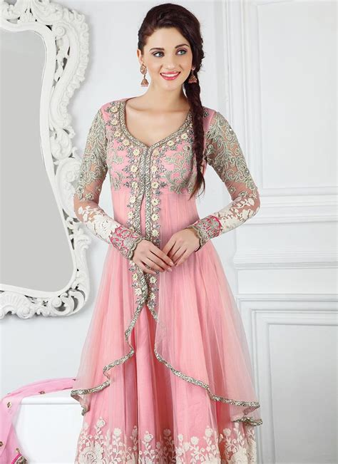 pink colour combination dresses latest beautiful suits and salwar kameez