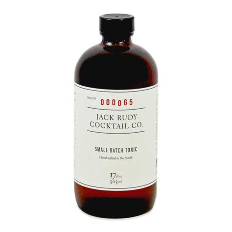 Tonic Rudy Rudy Artisanal Tonic Concentrate Marx Foods