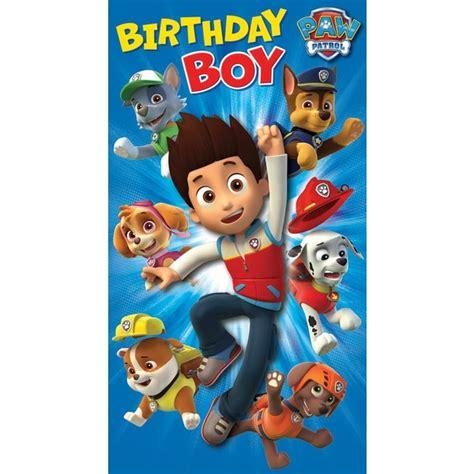 T Shirt Anak Original Td Graphic Boys paw patrol birthday card partyware ireland