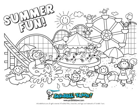 summer coloring page pdf coloring pages summer coloring pages for preschool summer