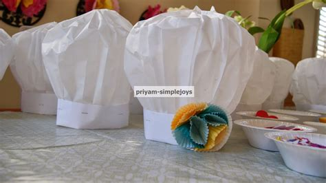 How To Make A Chef Hat With Tissue Paper - simplejoys paper chef hats