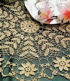 Crochet art crochet tablecloth pattern free golden crochet doily