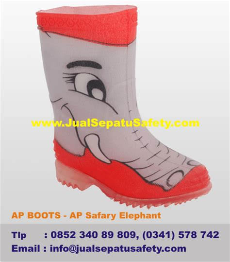 Sepatu Ap Boot Anak sepatu ap boots anak ap safary elephant gambar gajah jualsepatusafety
